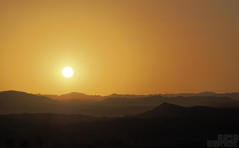 Sonnenuntergang Ägyptische Wüste